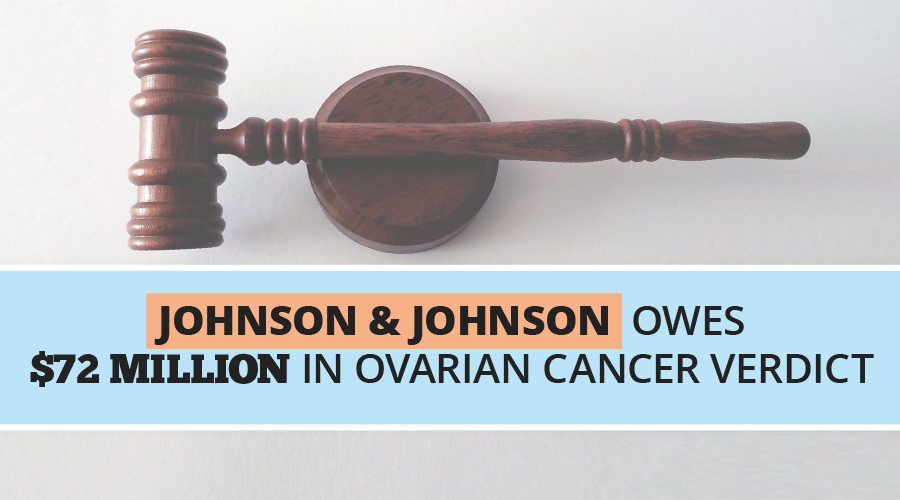 Johnson & Johnson Owes $72 Million in Ovarian Cancer Verdict // Consumer Safety Watch
